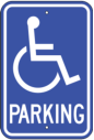 ADA signs parking handicap sign - Blue and White Wheelchair Diagram