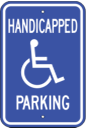 handicapped parking sign - Blue and White