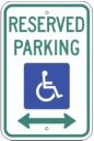 reserved handicapped parking both ways