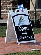 Epcon sidewalk sign