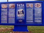 Feta Greek Kuzina Outdoor Lighted Menu for Drive Through ordering