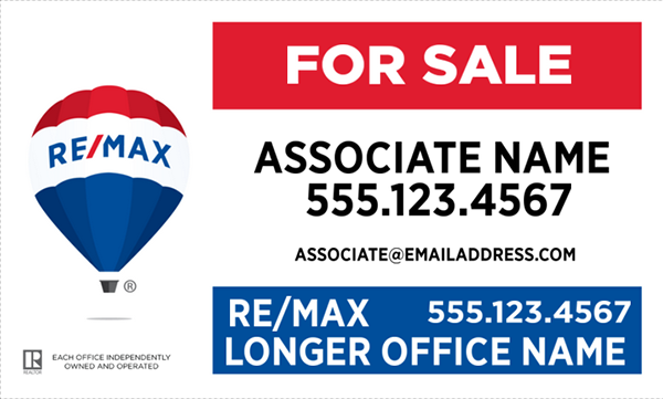 picture relating to Sales Signs Templates named RE/MAX® (PVC) Indicators All Templates-All Design and style Specialist Compliant