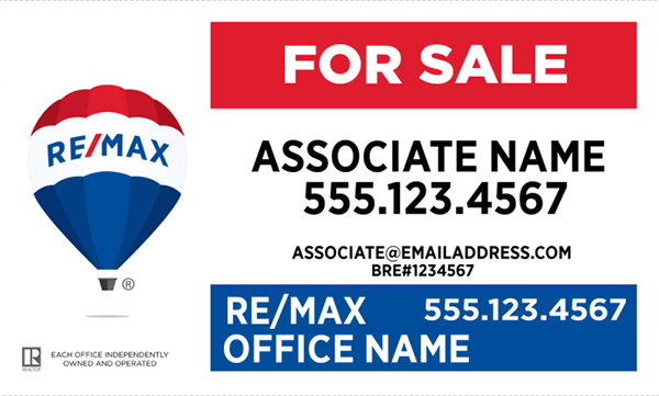 RE/MAX® Horizontal Office Prominent Design - Style Guide Compliant for 2018