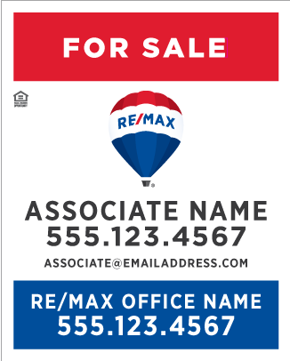 RE/MAX® Vertical Standard Design - Style Guide Compliant for 2018