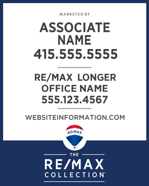 RE/MAX® Collection Vertical Standard Design - Style Guide Compliant for 2018