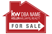 Keller Williams Yard Signs - 12x18 housedirect kw 0001 forsale
