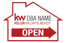 Keller Williams Yard Signs 12x18 housedirect kw 0002 open