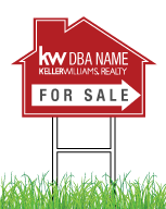 12x18 Keller Williams House Shaped Real Estate Open House Drectional Signs