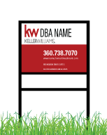 18x24 & 20x30 Keller Williams Real Estate Yard Sign standard panels