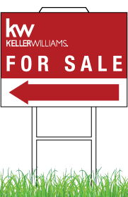 Keller Williams Yard Sign Light Weight  12x18 0002