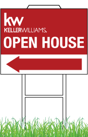 Keller Williams Real Estate Sign Light Weight 12x18 0004