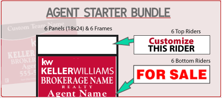 mini banner keller williams real estate sign starter kit