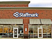 Staffmark Channel Letter Strip Mall Signage