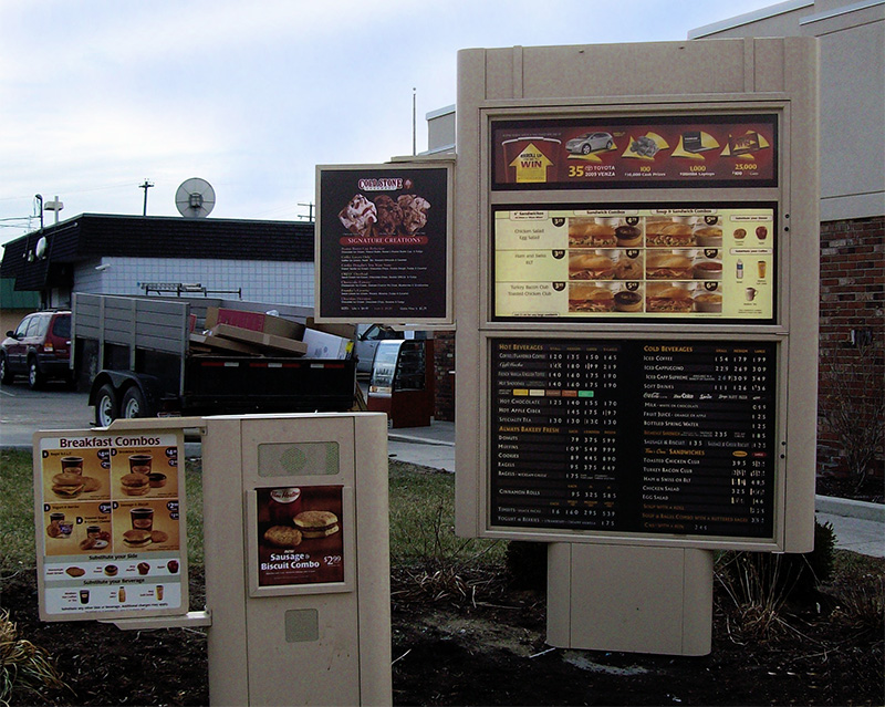 Restaurant Menu Boards Display Signs Directional Signs