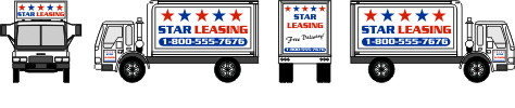 Classic Box Truck Graphic templates full color