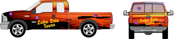 Truck Wraps - Full Color Partial or Full Wrap for your Advertising Machine!