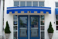 Greek Restaurant Custom Commercial Awning