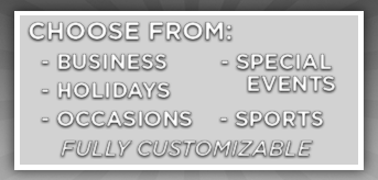 Custom Vinyl Banner Categories-Business | Occasions | Special Events | Sports | Holidays