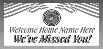 Custom Vinyl Banners for Military Homecomings