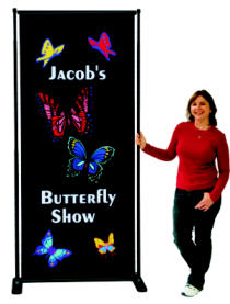 Adjustable Butterfly Banner Stands