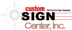 Custom Sign Center's Logo: Full Service Sign Company
