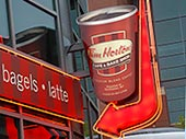 Neon - Tim Horton's Downtown Columbus Ohio
