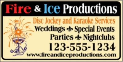 DJ and Karaoke Services Promotional Banner