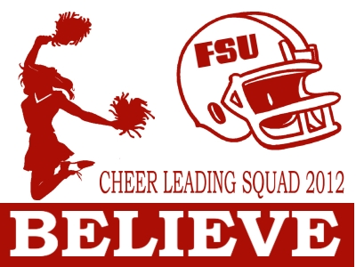 Cheerleading Yard Sign 1