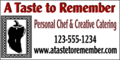 Chef & Catering Service Banner