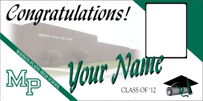 Madison-Plains High School Deluxe Graduation Banner