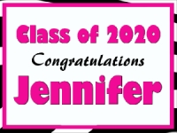 Girl's Graduation Yard Sign