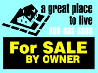 "For Sale by Owner Real Estate 18""x24"" Double-Sided Sign"