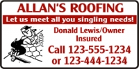 Roofing Business Banner
