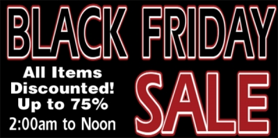 BLACK FRIDAY Sale Sign Design Template