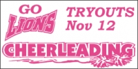 Cheerleading Tryouts Sports Banner 1