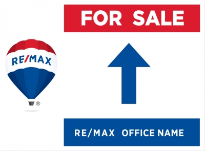 RE/MAX® 2018 Re-branded Directional Signs - Arrow Up