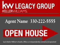 Keller Williams Realty OPEN HOUSE Sign Darker Grey