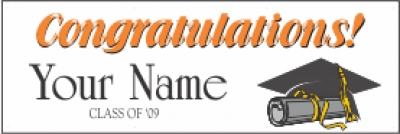 Custom Name Graduation Banner | 2 x 6