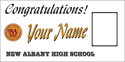 New Albany High School Graduation Banner Template