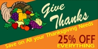 Cornucopia Thanksgiving Sale Banner Design 5