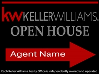Keller Williams Black Open House Panel 18 x 24 003