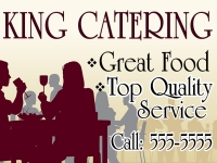 Food Catering Business Yard Sign