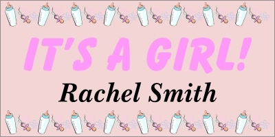 It's A Girl Banner 2