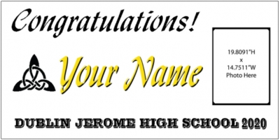 Dublin Jerome High School Grad Banner