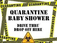 Quarentine Baby Shower Informational Yard Sign