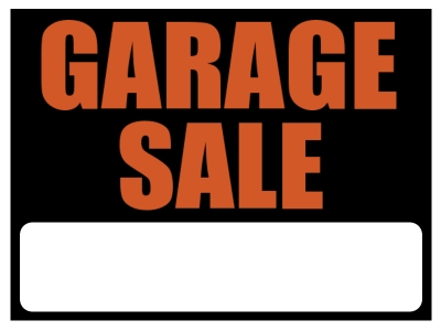 Garage Sale Yard Sign | Basic Orange/Black