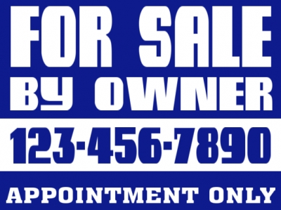 Real Estate 2-Sided FSBO Sign