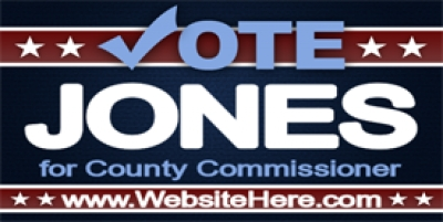 County Commissioner Political Banner