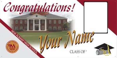 New Albany High School Deluxe Graduation Banner