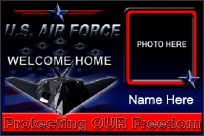 4' x 6' Air Force Welcome Home Banner